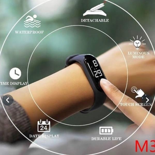 Smart watch pulseira inteligente smartband m3 monitor