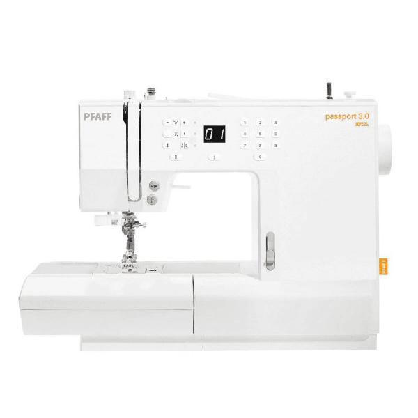 Máquina de costura portátil pfaff passport 3.0 100 pontos