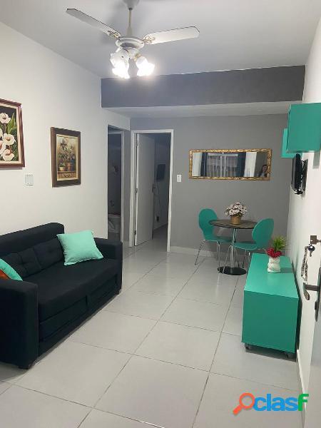 Apartamento 1 quarto, mobiliado,48 m2, 1 vaga, gonzaga, santos