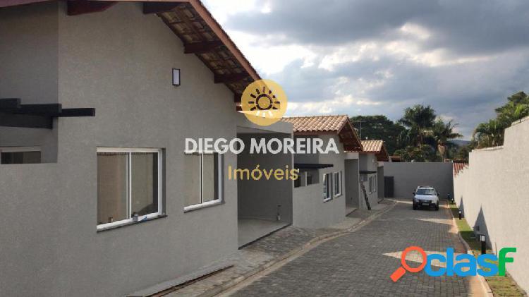 Casa térrea com 3 dormitórios em condomínio - atibaia