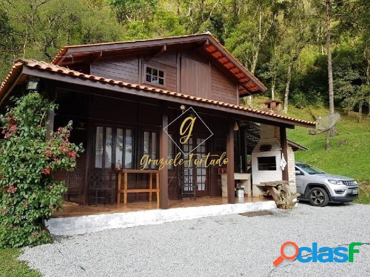 Chácara com casa porteira fechada localizada município de anitápolis - sc