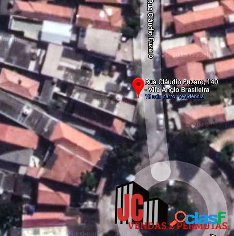 Terreno vila anglo brasileira-1.500 metros do metro v.madalena ac/permuta