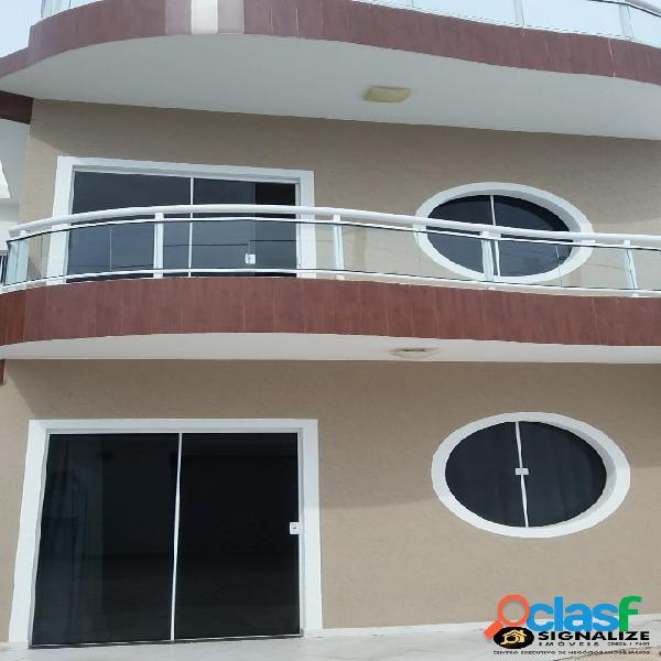 Casa duplex 3 qts, avarandada rua tranquila novo portinho cabo frio
