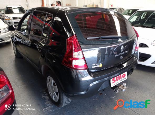 Renault sandero expression hi-flex 1.6 8v 5p preto 2012 1.6 flex
