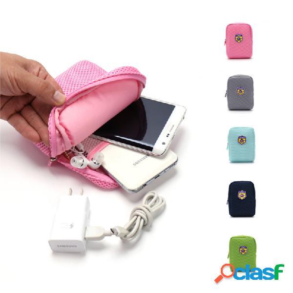 Ipree® disco rígido portátil rígido estojo de transporte cabo usb carregador de cartão de memória sacola de armazenamento à prova de choque