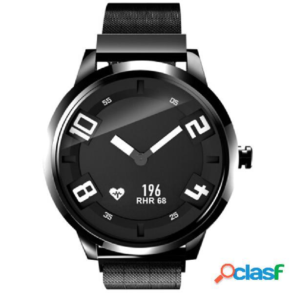 Relógio luminous de aço milanese do negócio 8atm monitor do sono da frequência cardíaca 45days espera o relógio esperto