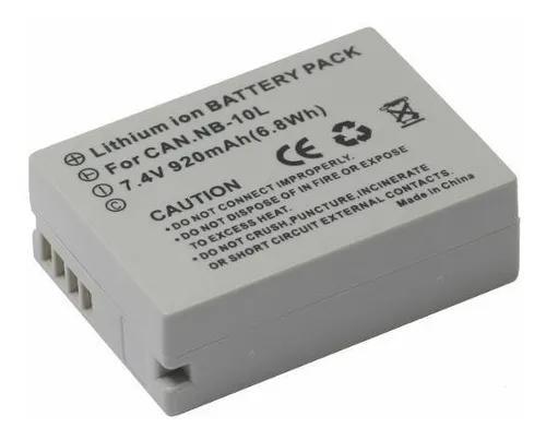 Bateria nb-10l para canon g1x g15 g16 sx40 sx50 sx60 hs