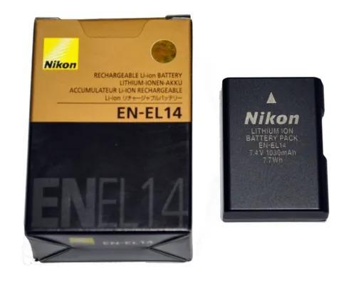 Bateria nikon en-el14 original d3100 d3200 d3300 d5200 d510