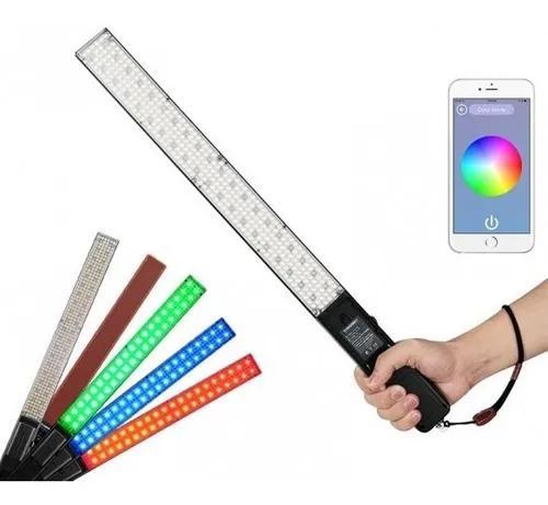 Iluminador led espada yongnuo yn360 color+bateriaf970+carreg
