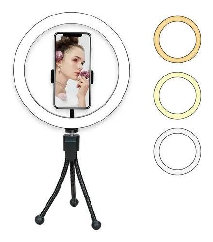 Iluminador ring light 10 polegadas 26cm c/ tripé de mesa