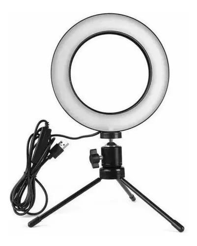 Iluminador Ring Light 6 Polegadas 16cm Usb Led Tripé Mesa