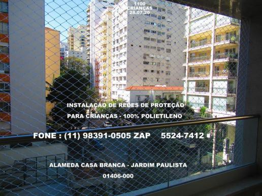 Jardim paulista, telas de proteção na alameda casa branca,