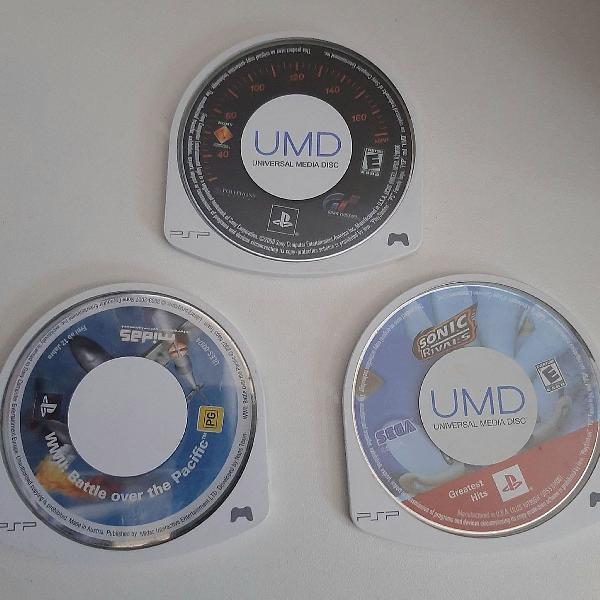 Jogos psp originais 3 diferentes