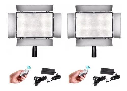Kit 2 iluminador travor tl-600a 600 leds 3200-5600k + fonte