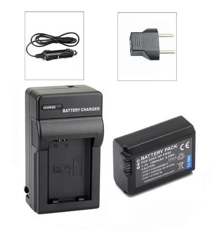 Kit bateria + carregador para sony nex-6 nex-f3 ilce-qx1