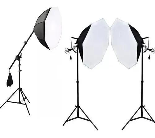 Kit iluminação estúdio girafa octa 70 led 5500k youtube c