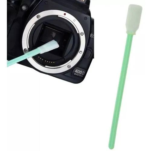 Limpa sensor cmos ccd cotonete limpeza camera dslr lente