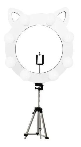 Luz para foto ring light gatinho bancada led make selfie