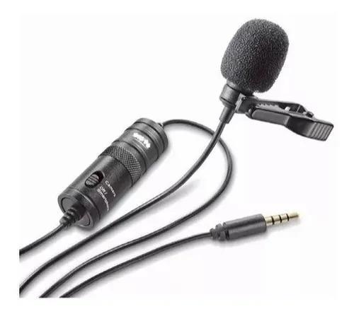 Microfone lapela greika gk-lm1 p/smartphones e cameras c/nf
