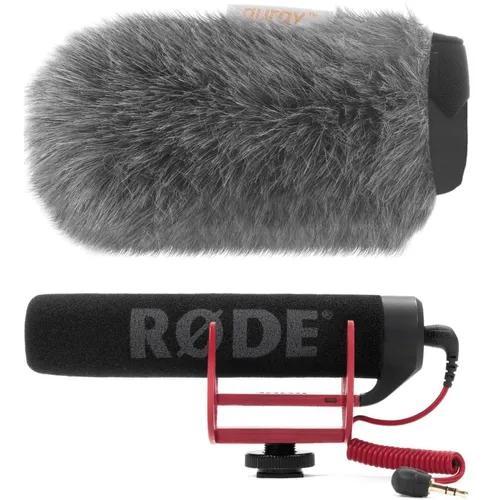 Microfone rode go c/ deadcat vento shotgun canon nikon sony