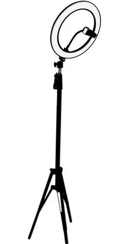 Ring light completo iluminador portátil 26cm + tripé 2