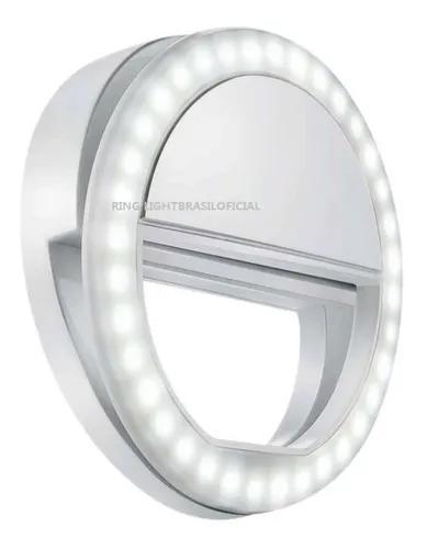 Ring light led sg-11 p/ celular recarregável 3 ajuste c/ nf
