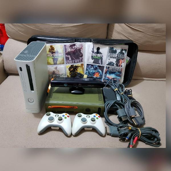 Xbox 360 + kinect e jogos