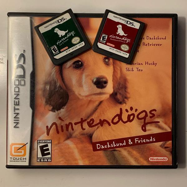 Kit 2 jogos nintendogs para nintendo ds