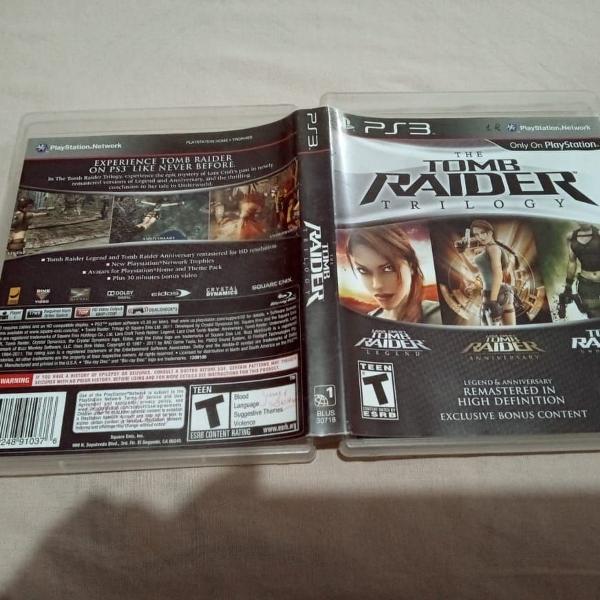 tomb raider trilogy usado ps3 play3