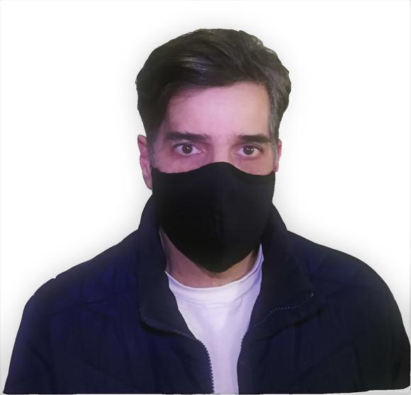 3 máscara tecido algodão premium tripla camada clipe nasal