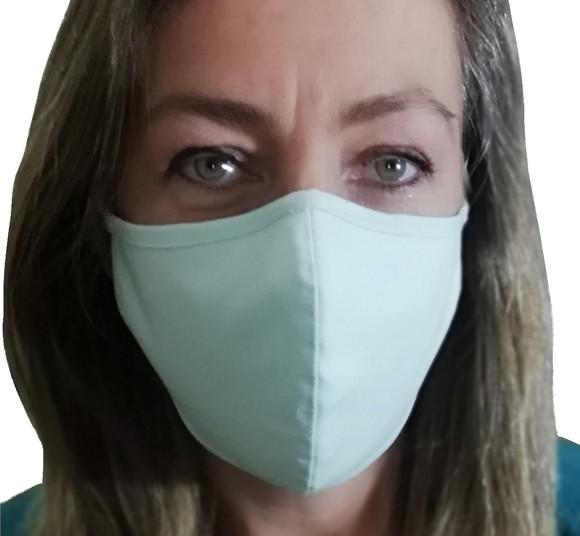 5 máscara tecido algodão premium tripla camada clipe nasal