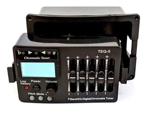 Captador ativo violão pré equalizador afinador teq-5 teq 5