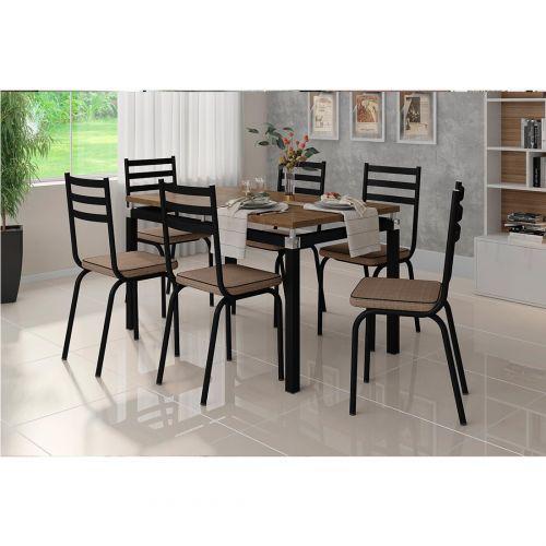 Conjunto de Mesa para Sala de Jantar Artefamol Malva com 6