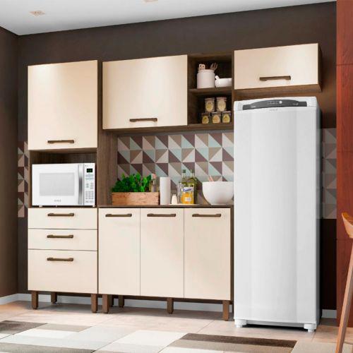 Cozinha Completa Mobler Isadora com 7 Portas e 2 Gaveta -