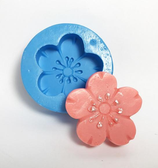 Flor de cerejeira - molde de silicone