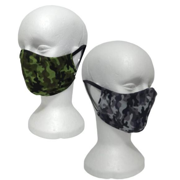 Mascara camuflada kit com 2 peças tecido duplo militar