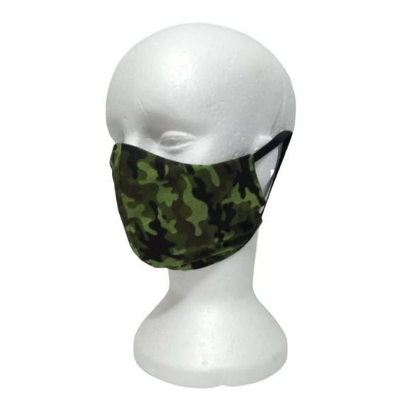 Mascara camuflada verde militar tecido duplo