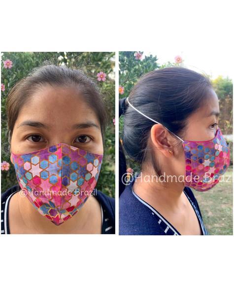 Mascara de protecao dupla camada e elástico de cabeça