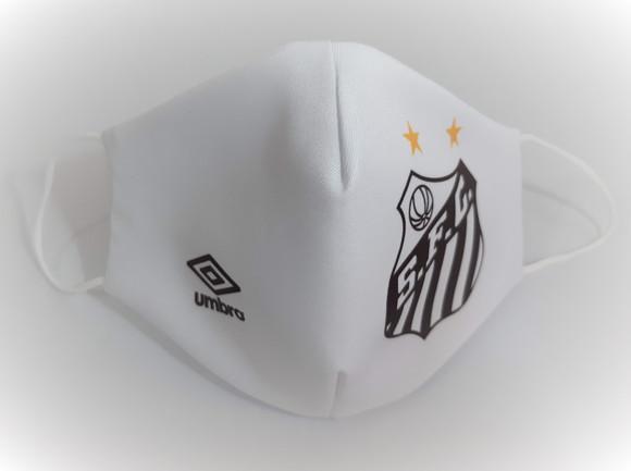 Mascara de tecido personalizada time santos