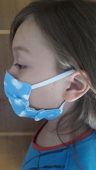 Mascaras de tecido infantil com trama de 200 fios