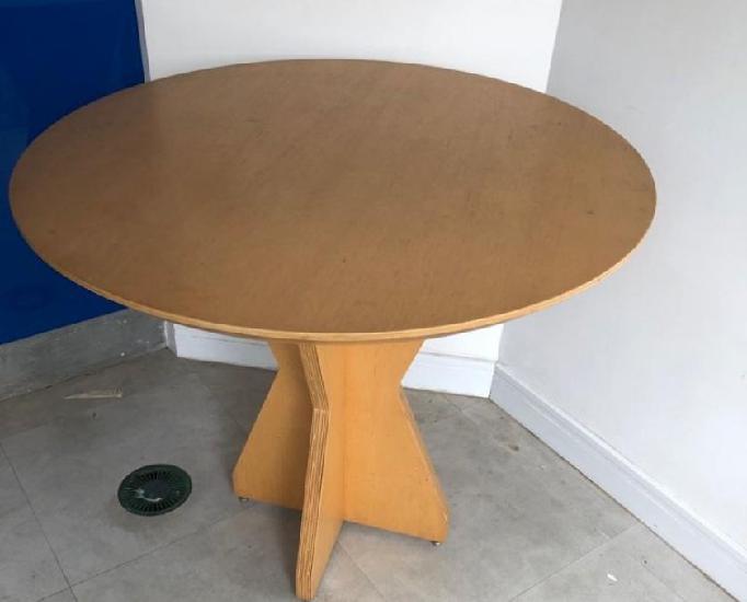 Mesa de madeira tampo redondo 90cm