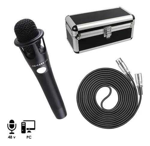 Microfone condensador p/ studio,cabo xlr,case bm 800,+48 v