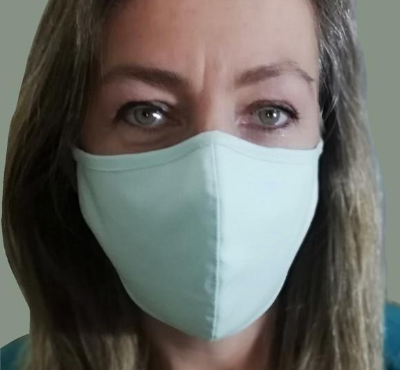 Máscara tecido algodão premium tripla camada clipe nasal