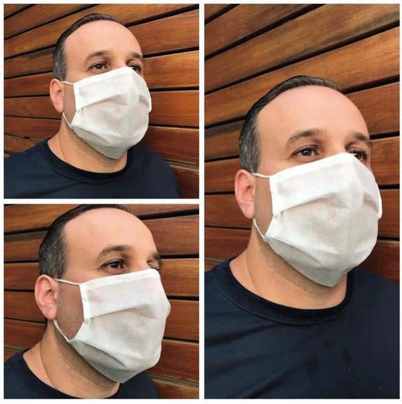 Máscara Tripla Proteção TNT Descartável Atacado
