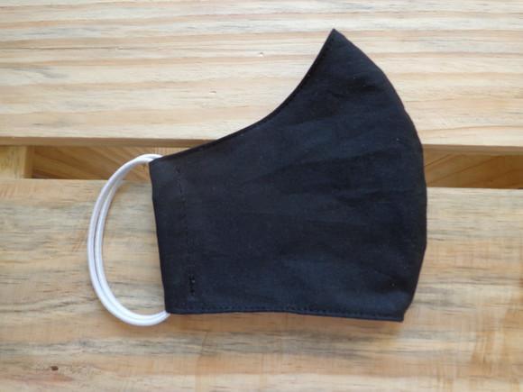 Máscara de Proteção Anatômica Preta Tripla