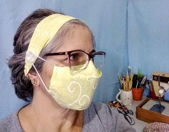 Máscara de proteção + faixa de cabelo - adulto ou
