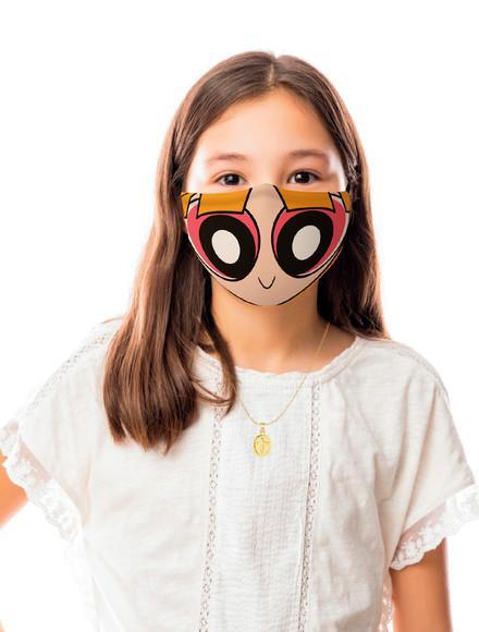 Máscara de proteção meninas super poderosas