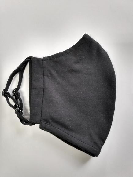 Máscara de tecido ajustável de algodão dupla camada preto