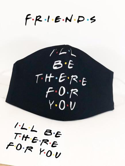 Máscara proteção personalizada friends