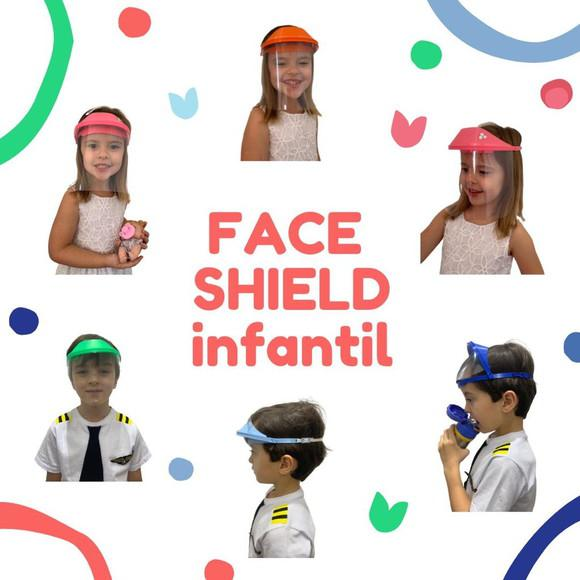 Protetor facial (face shield) infantil - retrátil
